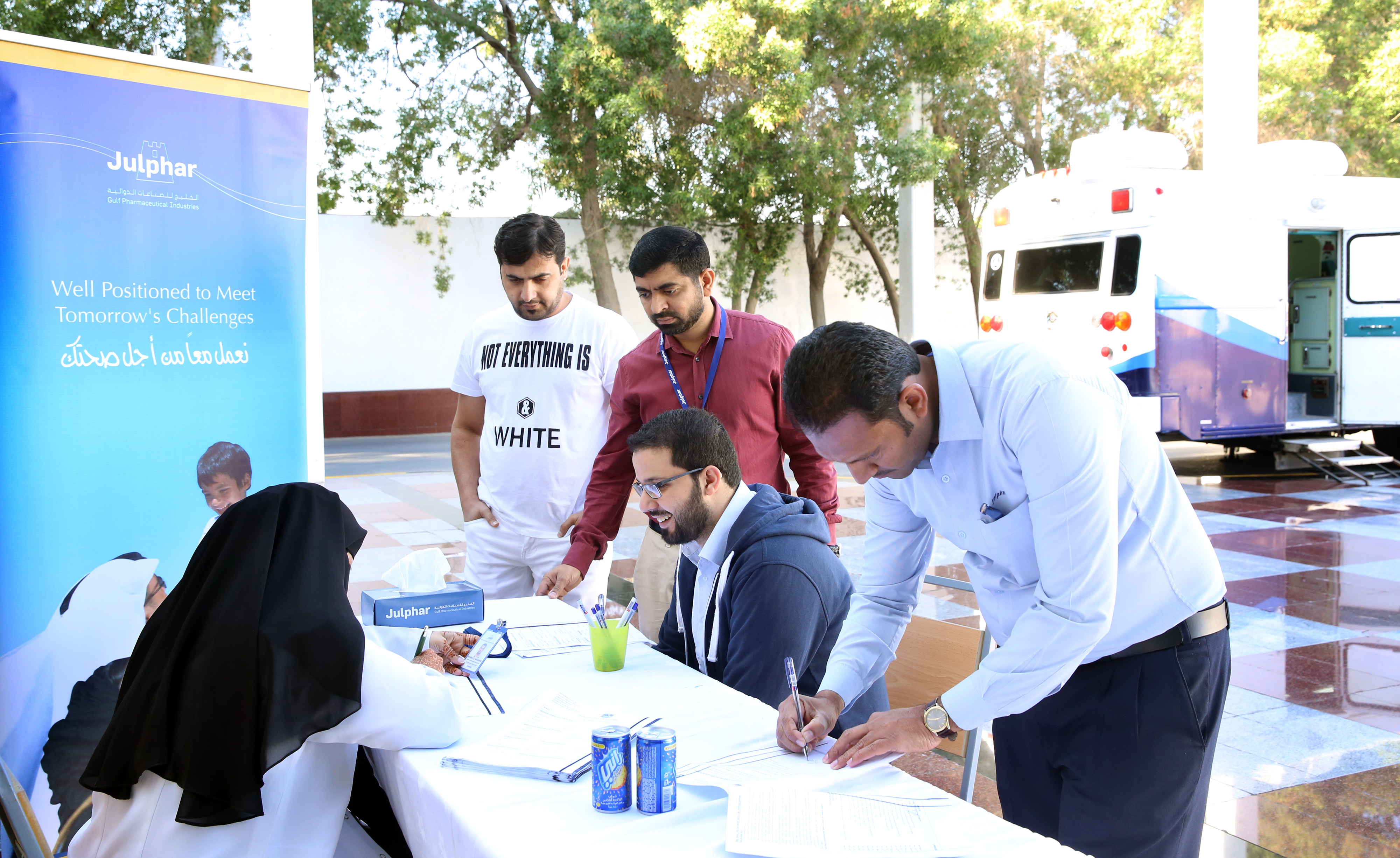 Julphar's employees show CSR commitment with blood donation